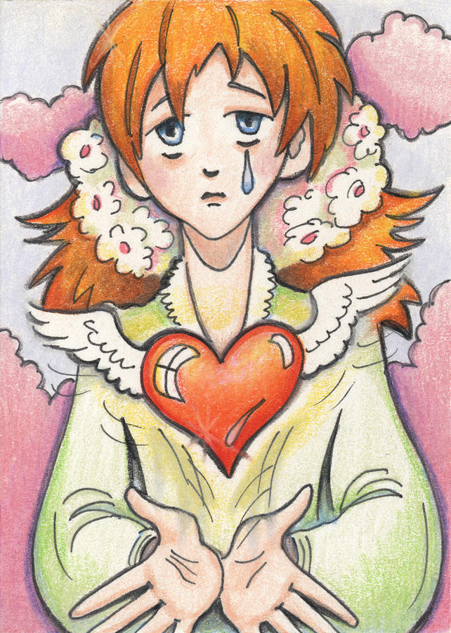 Atc Drawing - If You Love Someone Set Them Free by Amy S Turner
