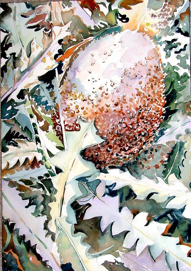 Flower Painting - Ikabani by Mindy Newman