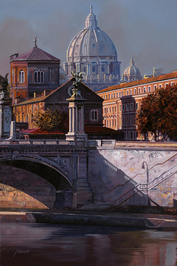 Rome Painting - Il Cupolone by Guido Borelli