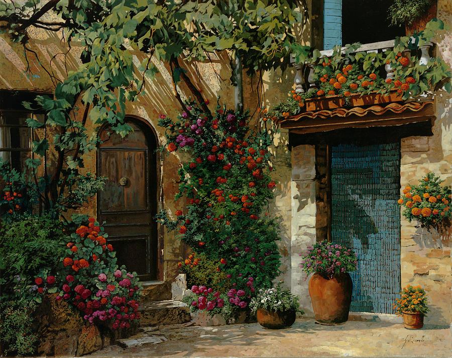 Landscape Painting - Il Giardino Francese by Guido Borelli