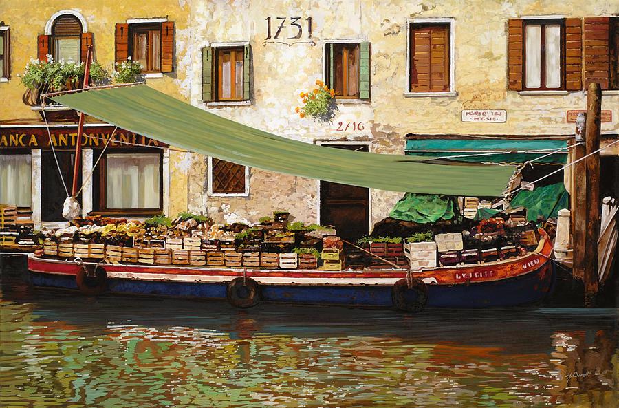il mercato galleggiante a Venezia Painting