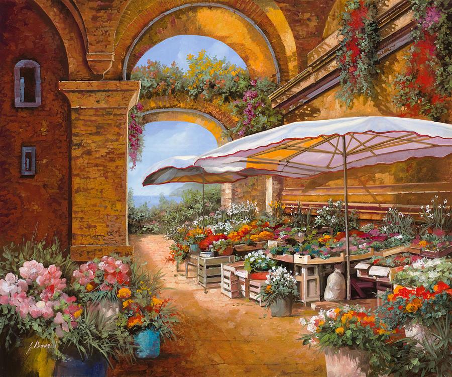 Il Mercato Sotto I Portici Painting