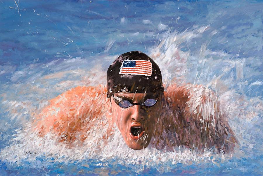 Swim Painting - Il Nuotatore by Guido Borelli