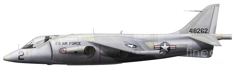 Aerospace Digital Art - Illustration Of A Hawker P1127 Kestrel by Chris Sandham-Bailey