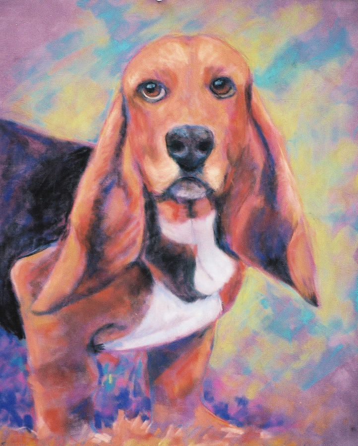 Basset Hound Painting - Im All Ears Ears by Billie Colson