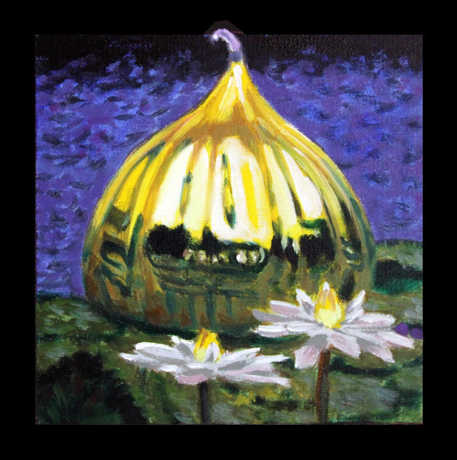 Yellow Blown Glass Painting - Image Number Eleven by John Lautermilch