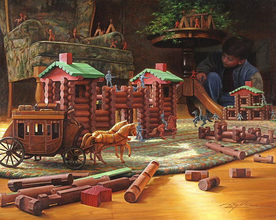 Lincoln Logs Painting - Imagination Final Frontier by Greg Olsen