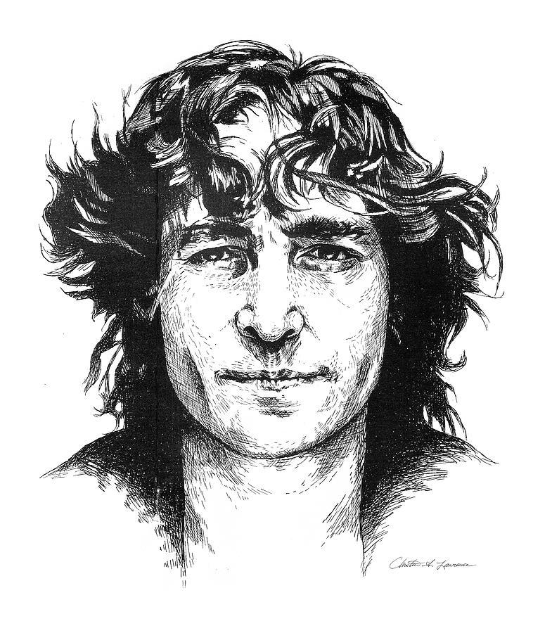 John Lennon Drawing - imagine by Christine Lawrence