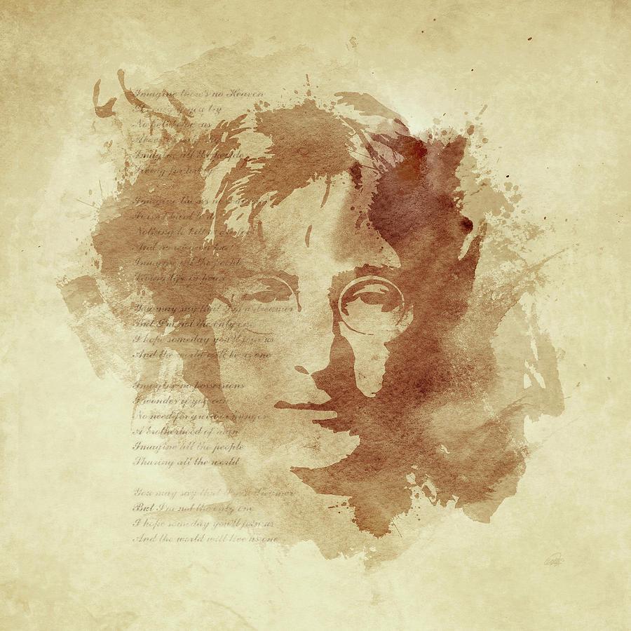 John Lennon Digital Art - Imagine by Laurence Adamson