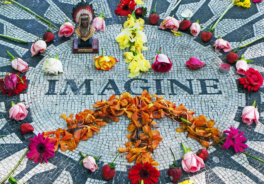 John Lennon Photograph - Imagine Peace by Sharla Gentile