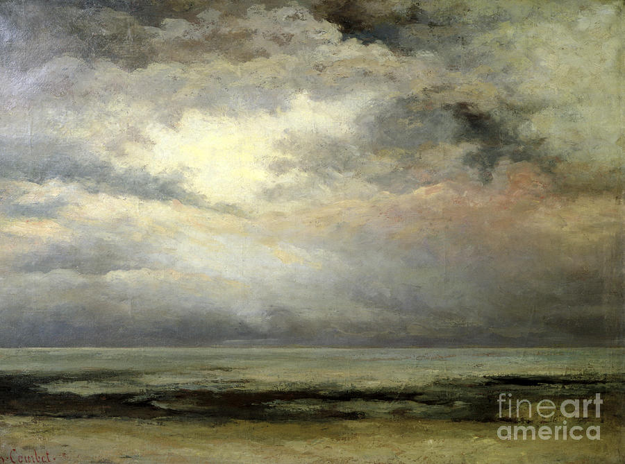 Immensite Painting - Immensity by Gustave Courbet