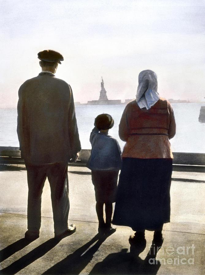 1920 Photograph - Immigrants: Ellis Island by Granger