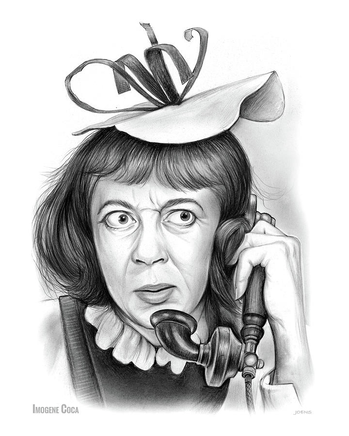 Imogene Coca Drawing