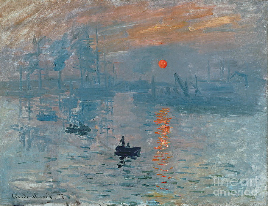 Impression Painting - Impression Sunrise by Claude Monet