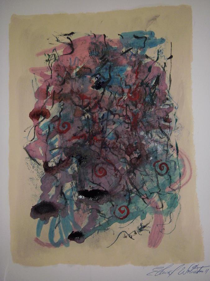 Improvisation Two Painting by Edward Wolverton