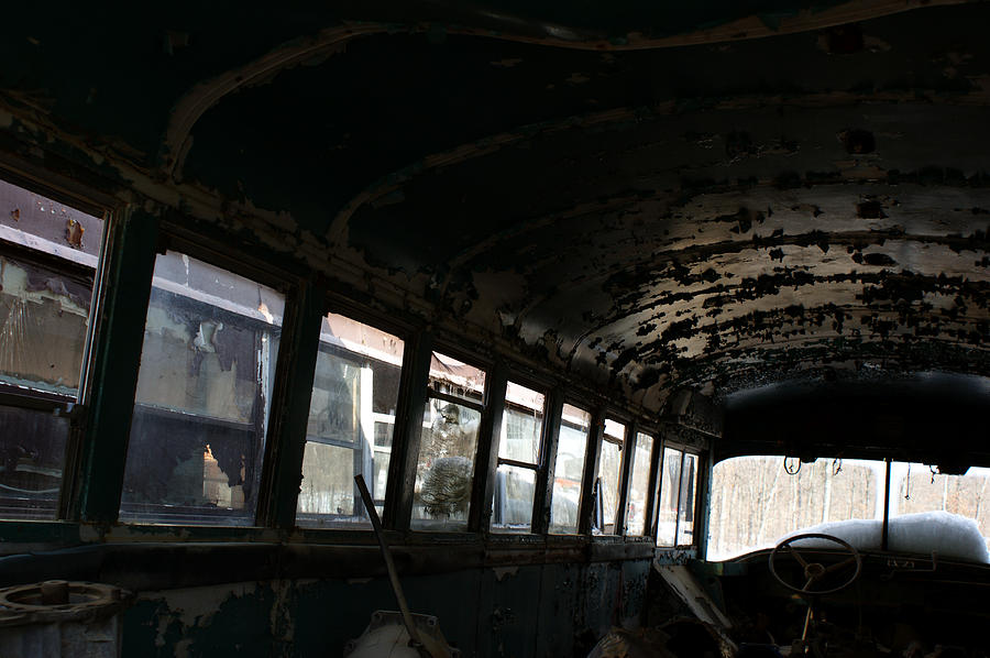 Old School Bus Photograph - In Another Life by Off The Beaten Path Photography - Andrew Alexander