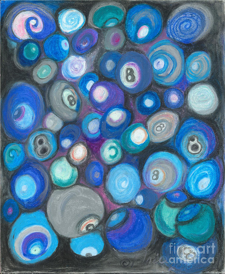 Abstract Art Painting - In Front Of The 8 Ball by Ania M Milo