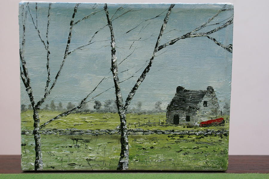 Landscape Painting - In Neglect by Pauline Byrne
