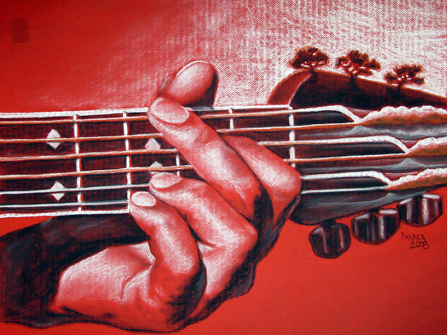 Guitar Drawing - In The Chord Of G by Patrick Parker