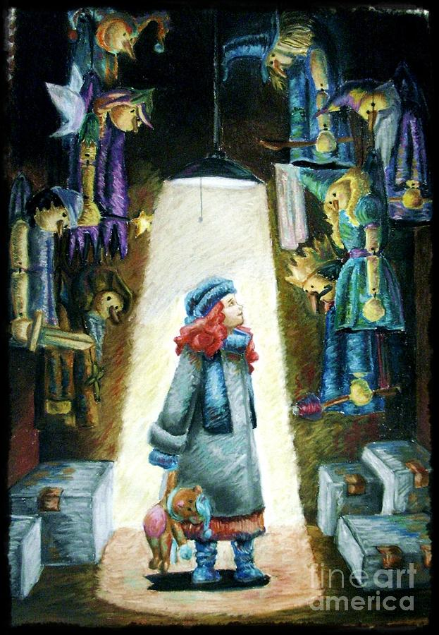Children Pastel - In The Closet Of The Puppeteer by Yagmur Telorman