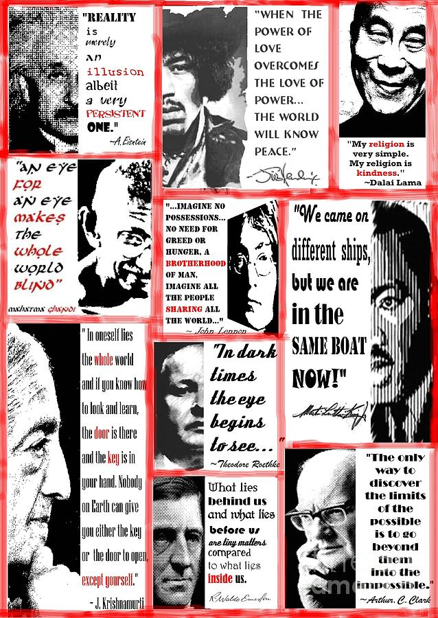 Albert Einstein Digital Art - In The Company Of Wise Men by Theodora Brown