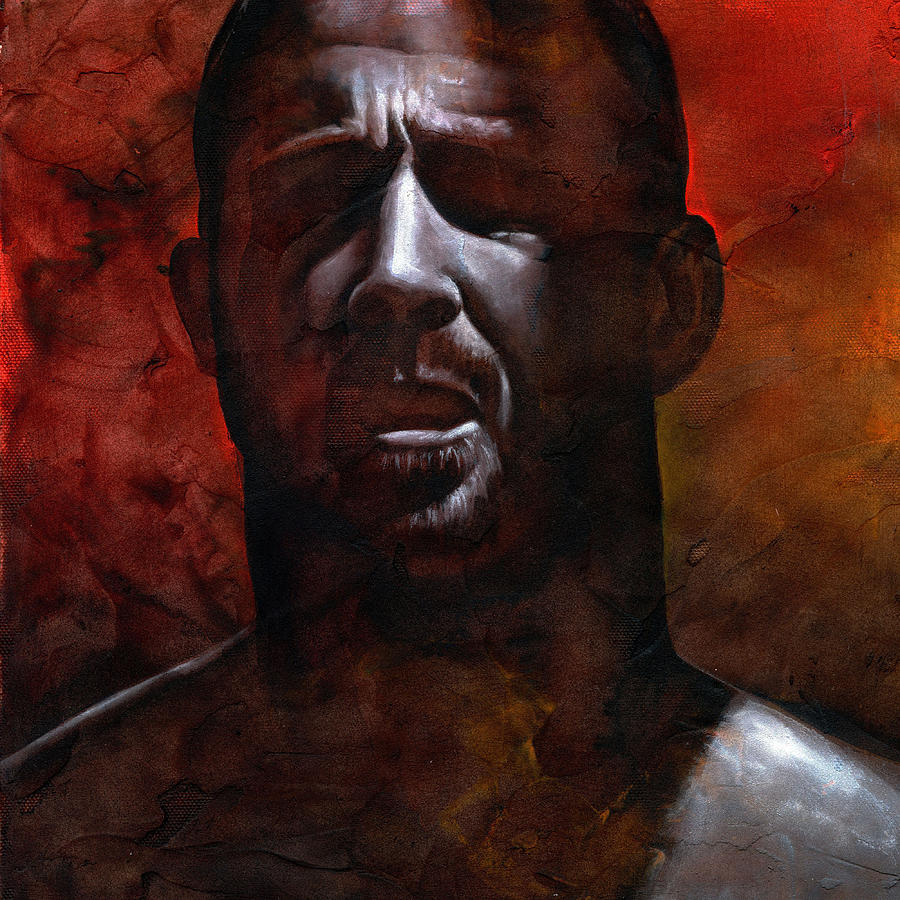 Man Painting - In The Darkness 1 by Chris  Lopez