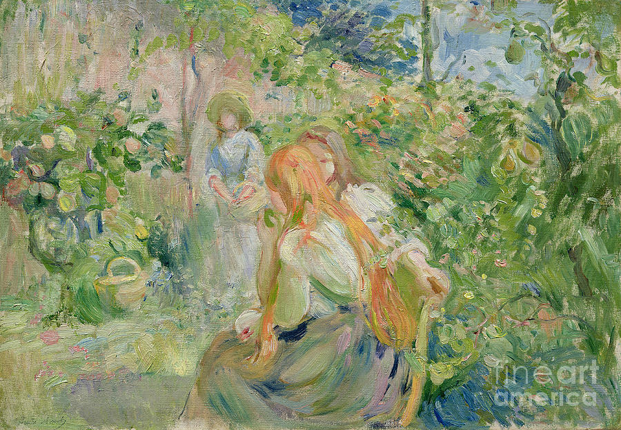 The Painting - In The Garden At Roche Plate by Berthe Morisot