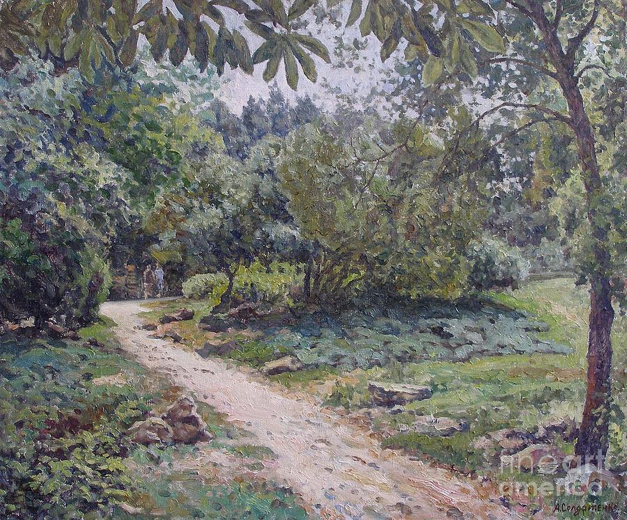 Trees Painting - In The Sea Garden. Varna by Andrey Soldatenko