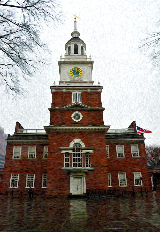 Independence Hall In Philadelphia Photograph - Independence Hall In Philadelphia by Bill Cannon