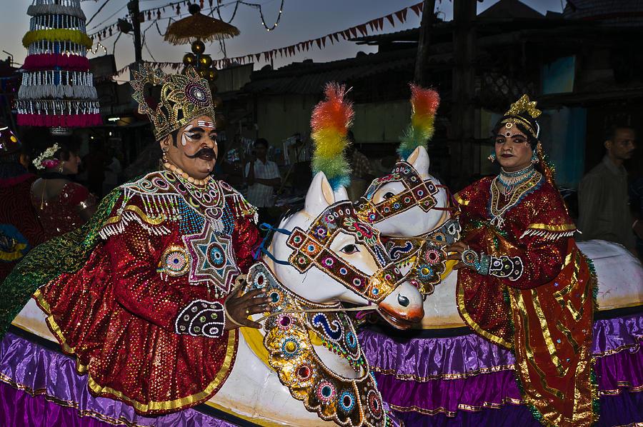 Udupi India  city images : India Photograph India Udupi paryaya Horse Dancers by Urs Schweitzer