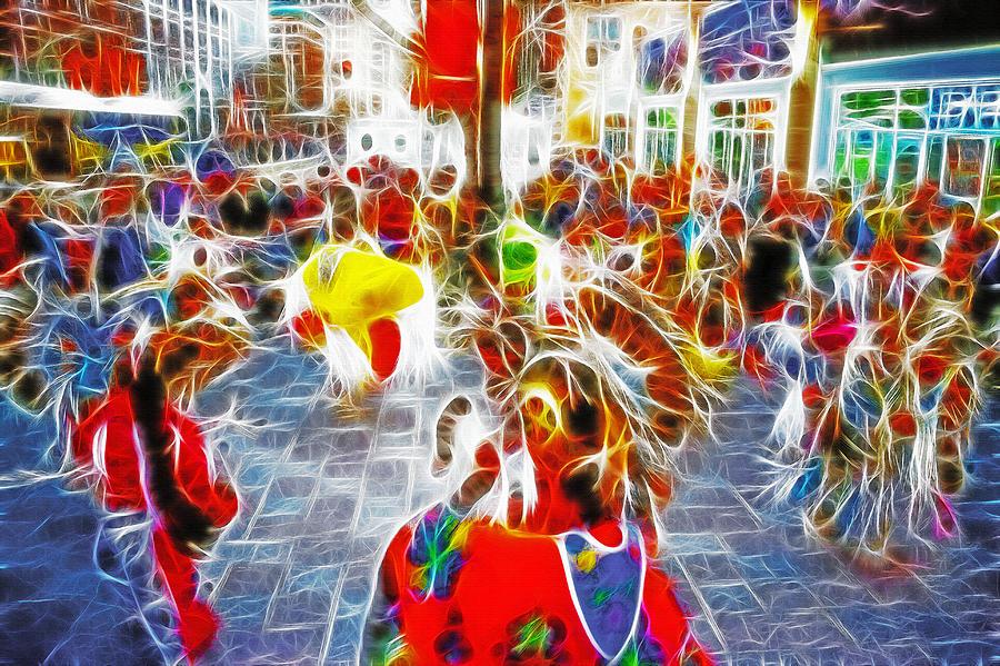 Indian; Indians; Ceremony; Ceremonial; Dances; Dance; Dancing; Dancers; Costumes; Cermonial Dress; Native Americans; Motion; Movement Photograph - Indian Ceremonial Dance - 2002 Winter Olympics by Steve Ohlsen