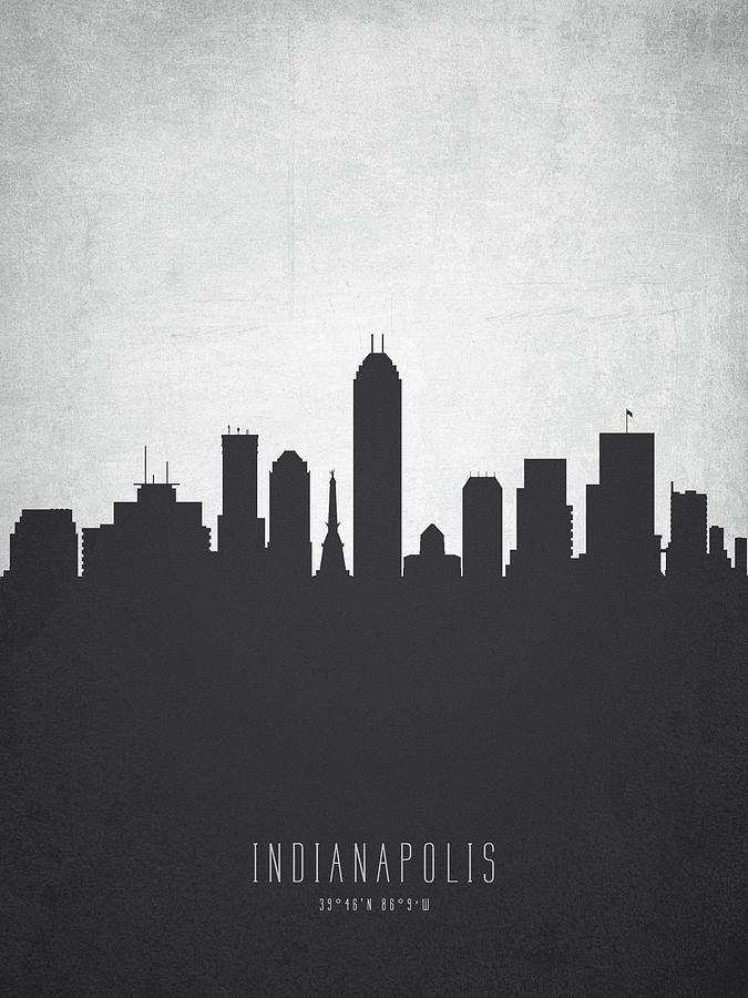 Indianapolis indiana cityscape 19 painting by aged pixel for Indianapolis painting company
