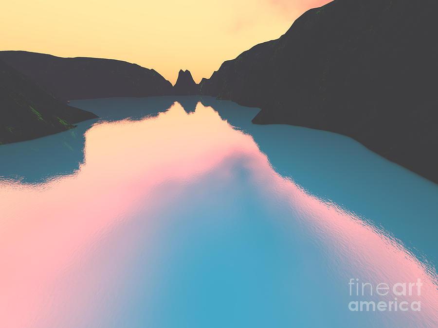 Indonesian Crater Lakes II Digital Art