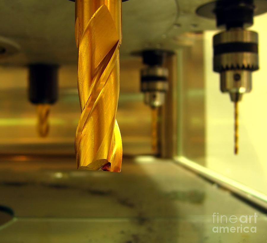 Drill Photograph - Industrial Drilling Machine by Yali Shi