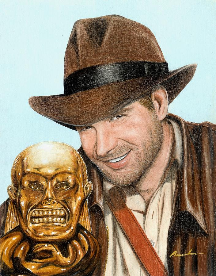 Raiders Of The Lost Ark Indiana Jones Bruce Lennon Art Harrison Ford Painting - Indy by Bruce Lennon