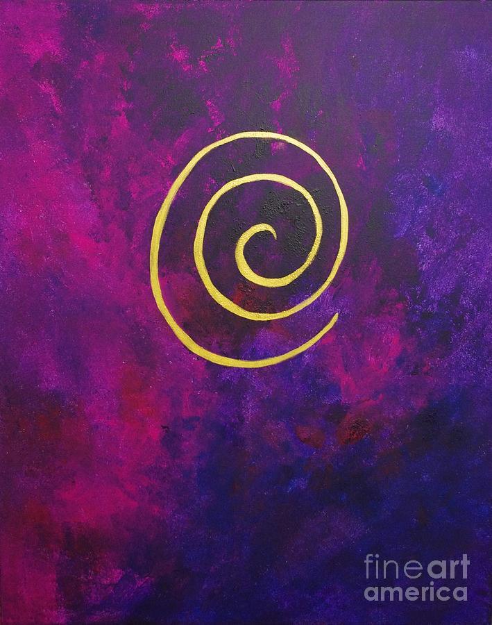 Infinity Deep Purple Painting