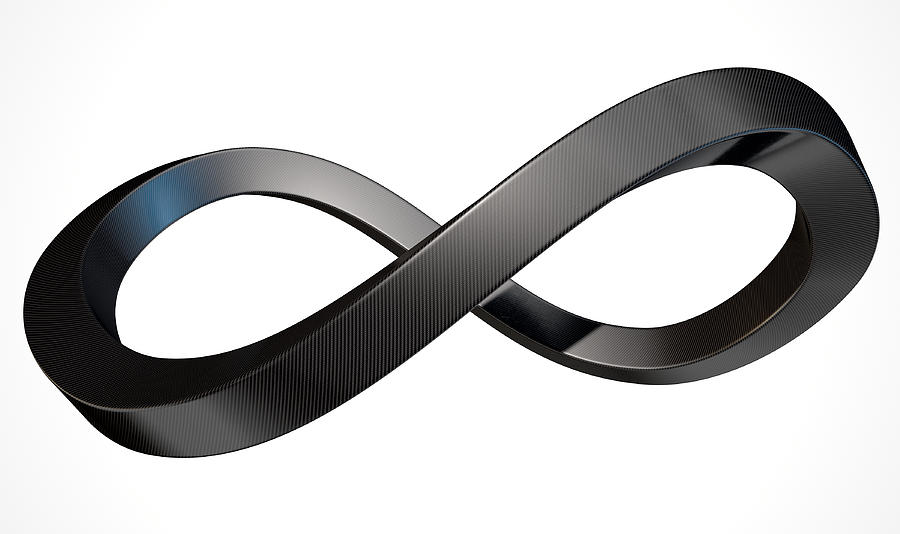 infinity symbol carbon fibre digital art by allan swart
