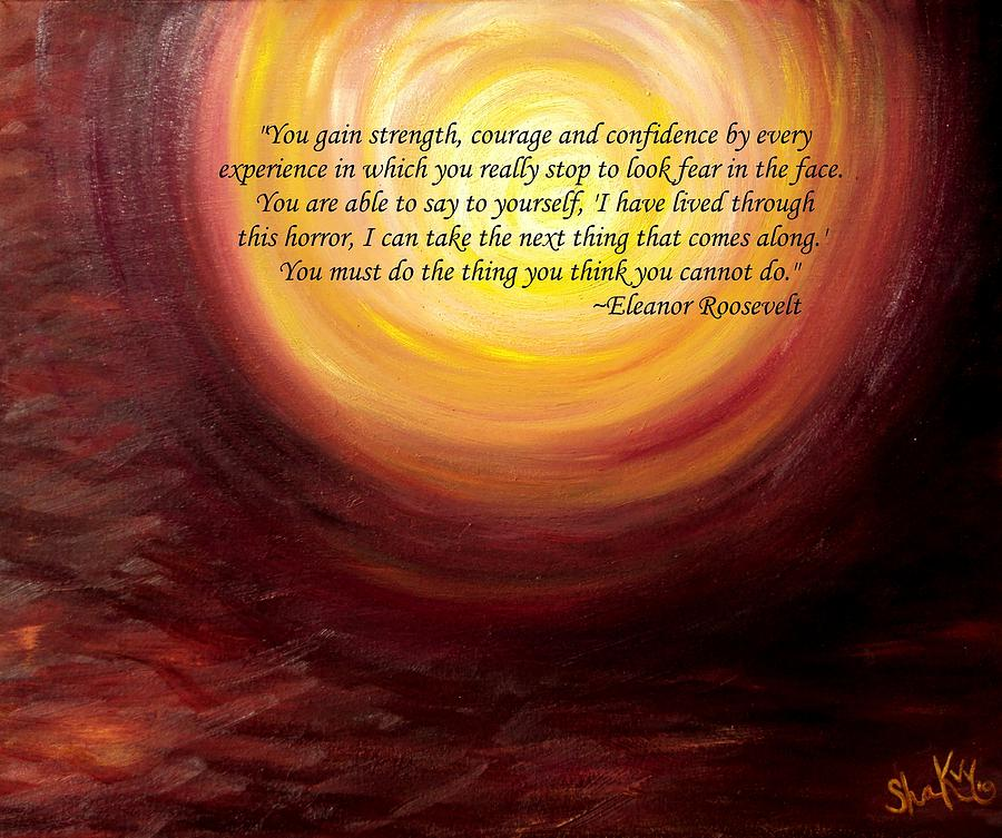 Inspirational Quote Painting - insatiable Painting With Eleanor Roosevelt Quote by Shannon Keavy
