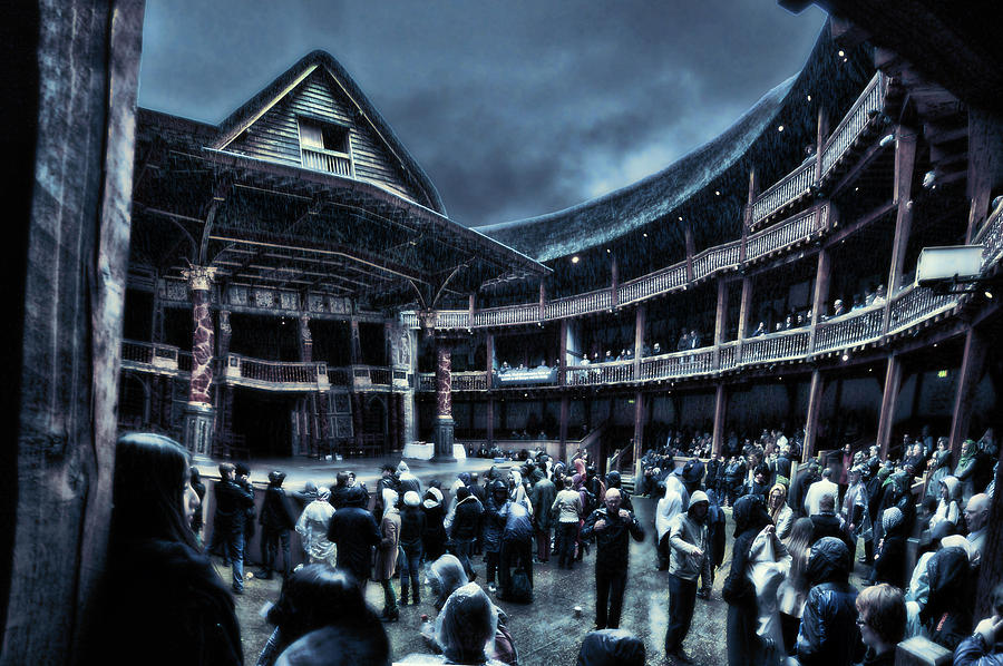 Shakespeare Photograph - Inside Shakespeares Globe by Rich Beer