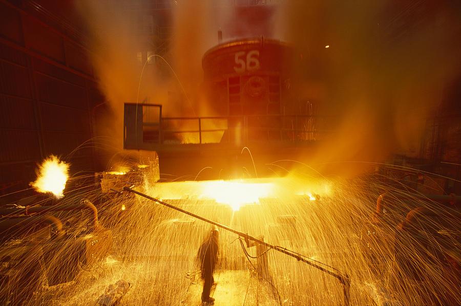 East Slovakian Steel Mill Photograph - Inside The East-slovakian Steel Mill by James L Stanfield