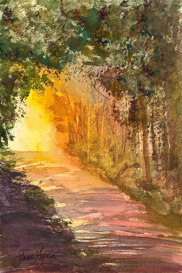 Path Painting - Into The Light by Frank SantAgata