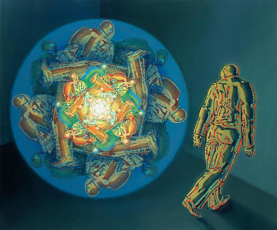 Introspection Painting by De Es Schwertberger