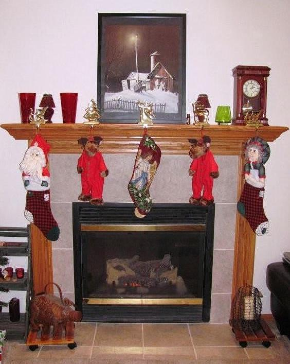 Christmas Photograph - Iowa Christmas Hearth by Jerry Browning