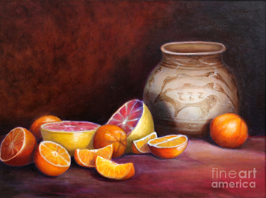 Still Life Paintings Painting - Iranian Still Life by Enzie Shahmiri