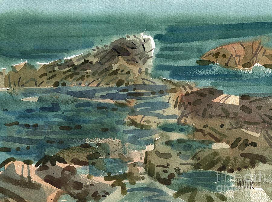 Irish Sea Painting - Irish Sea by Donald Maier