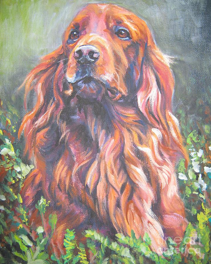 Irish Setter Painting - Irish Setter by Lee Ann Shepard