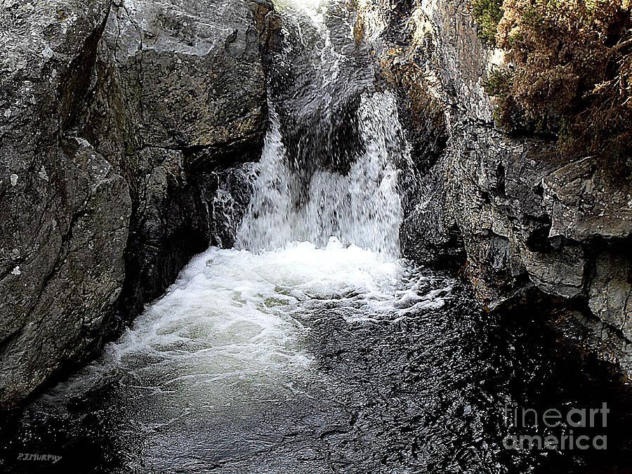 Ireland Photograph - Irish Waterfall by Patrick J Murphy