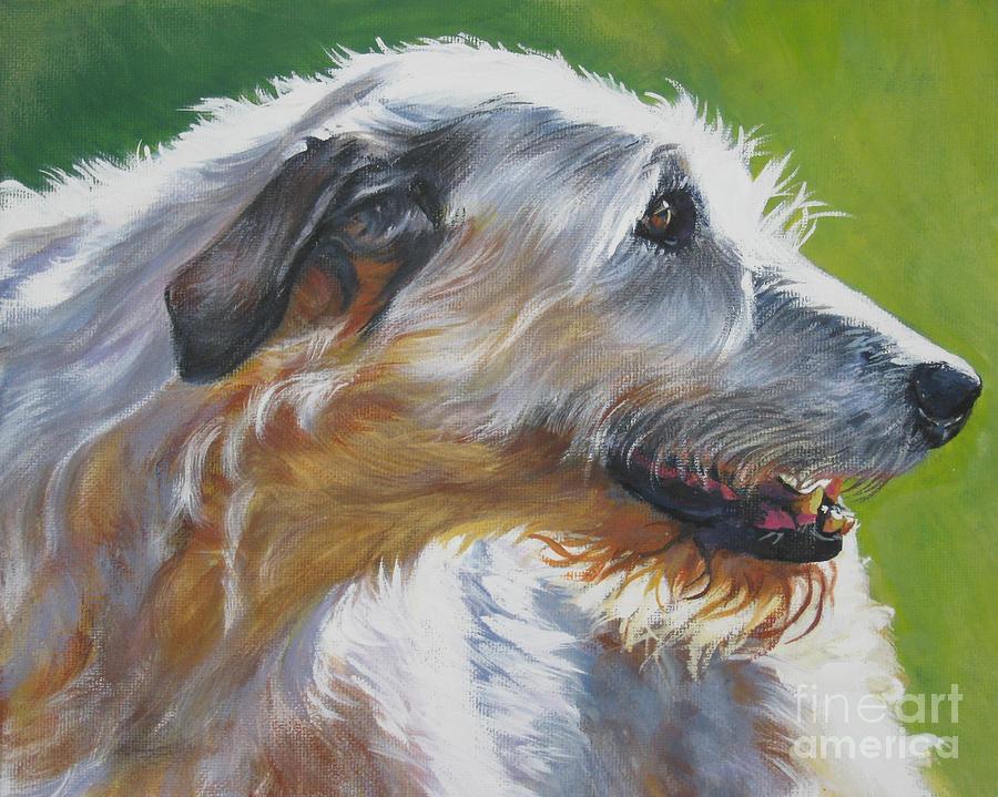 Irish Wolfhound Beauty Painting by L A Shepard