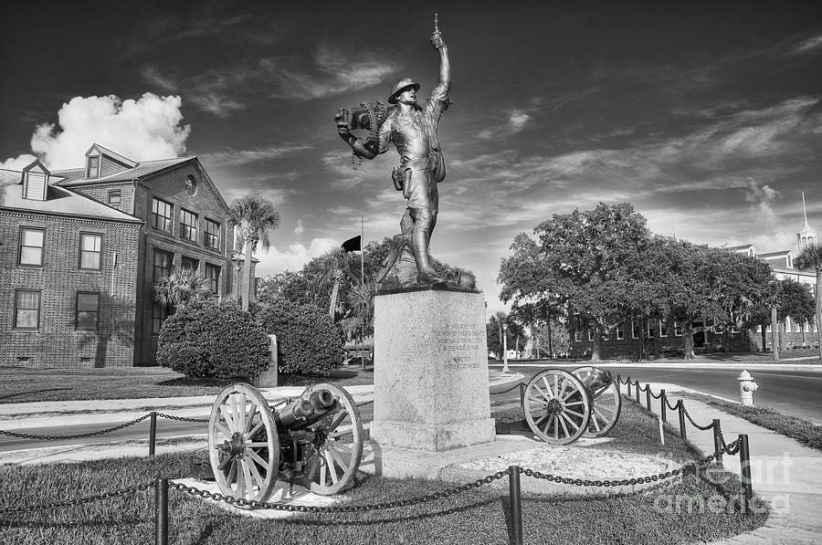 iron Mike Photograph - Iron Mke Statue - Parris Island by Scott Hansen