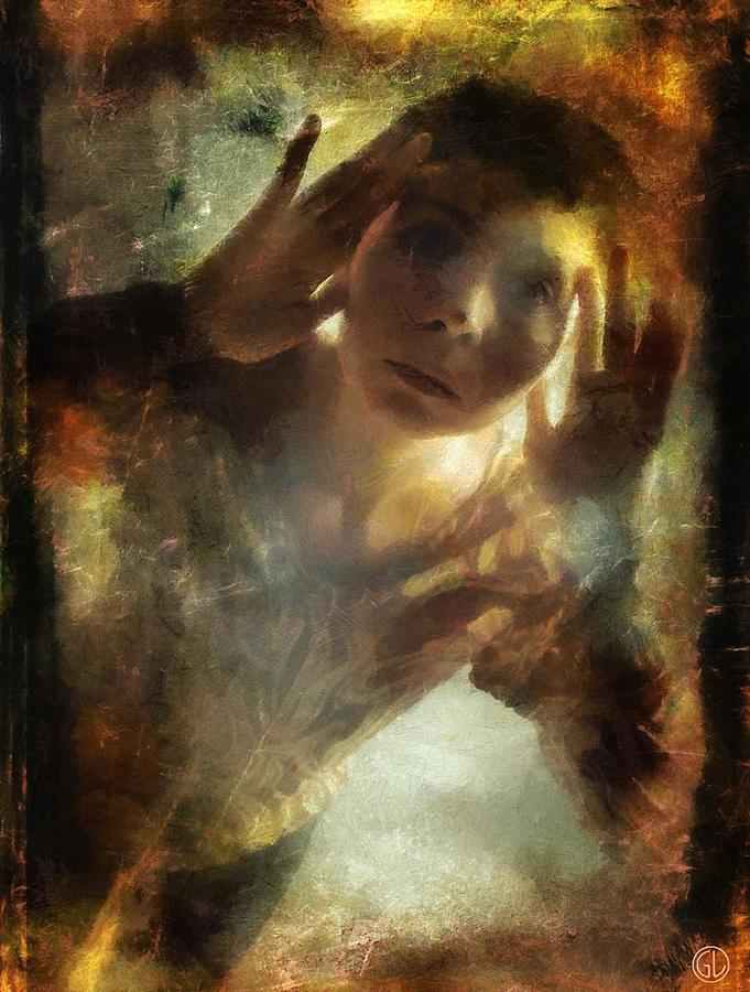 Woman Digital Art - Is There Anybody Out There by Gun Legler